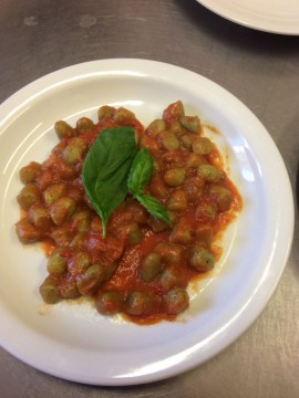 Gnocchi with basil